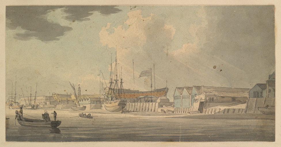 Along the Riverfront, Deptford f. 109-B